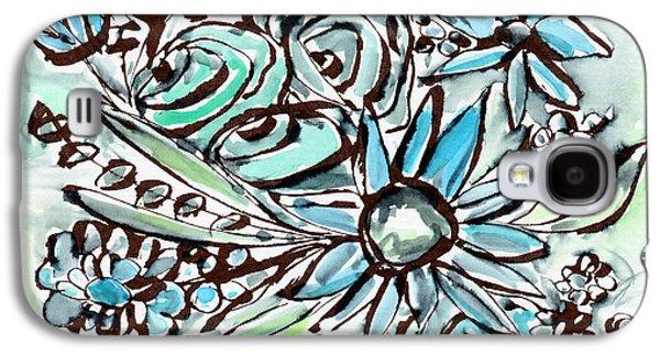 Beach Glass Flowers 1- Art By Linda Woods Galaxy S4 Case