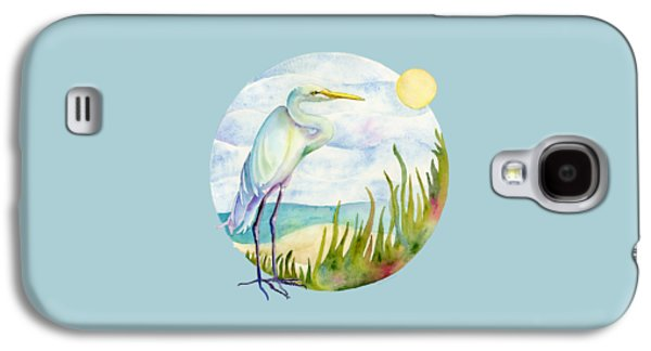 Beach Heron Galaxy S4 Case by Amy Kirkpatrick