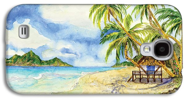 Beach House Cottage On A Caribbean Beach Galaxy S4 Case by Audrey Jeanne Roberts