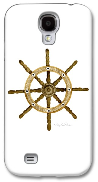Beach House Nautical Boat Ship Anchor Vintage Galaxy S4 Case by Audrey Jeanne Roberts
