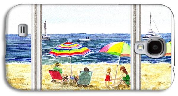 Beach House Window Galaxy S4 Case