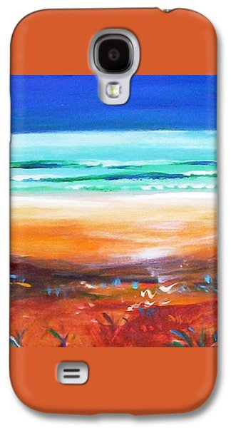 Galaxy S4 Case featuring the painting Beach Joy by Winsome Gunning