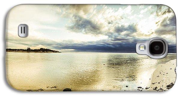 Beach Panorama Of A Sunrise Over The Sea Galaxy S4 Case