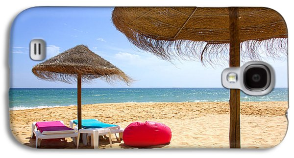 Chair Galaxy S4 Cases - Beach Relaxing Galaxy S4 Case by Carlos Caetano