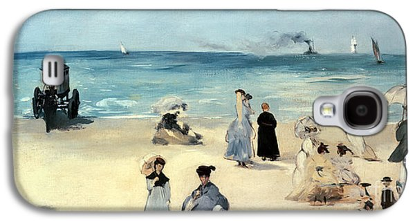 Beach Scene Galaxy S4 Case by Edouard Manet