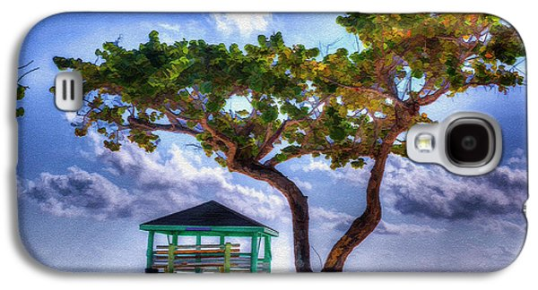 Beach Scene With Tree Galaxy S4 Case