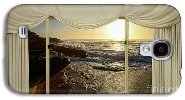 Beach Sunrise From Your Home Or Office By Kaye Menner Galaxy S4 Case by Kaye Menner