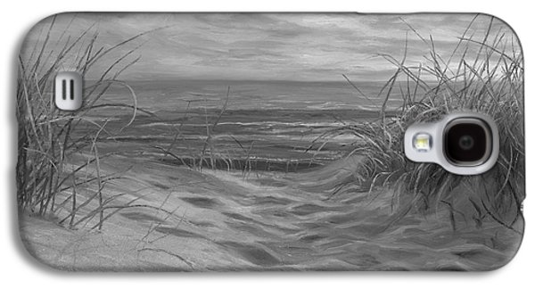 Beach Time Serenade - Black And White Galaxy S4 Case by Lucie Bilodeau
