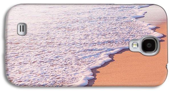 Beach Waves At Sunset  Galaxy S4 Case by Ariane Moshayedi
