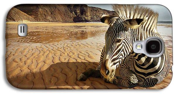 Beach Zebra Galaxy S4 Case
