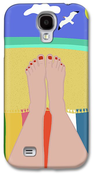 Beachy Keen Galaxy S4 Case by Nicole Wilson
