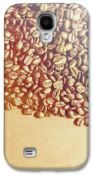 Bean Background With Coffee Space Galaxy S4 Case by Jorgo Photography - Wall Art Gallery