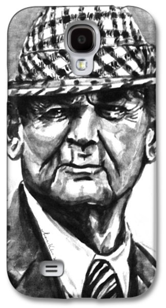 Bear Bryant Bw Watercolor  Galaxy S4 Case by Hae Kim