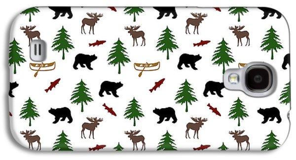 Bear Moose Pattern Galaxy S4 Case