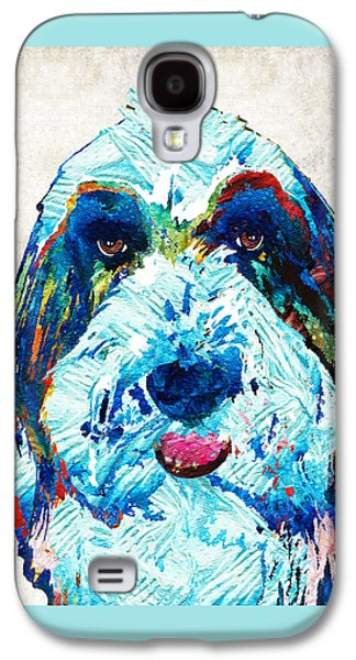 Bearded Collie Art - Dog Portrait By Sharon Cummings Galaxy S4 Case