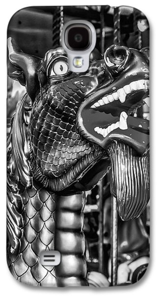 Bearded Dragon Ride Black And White Galaxy S4 Case