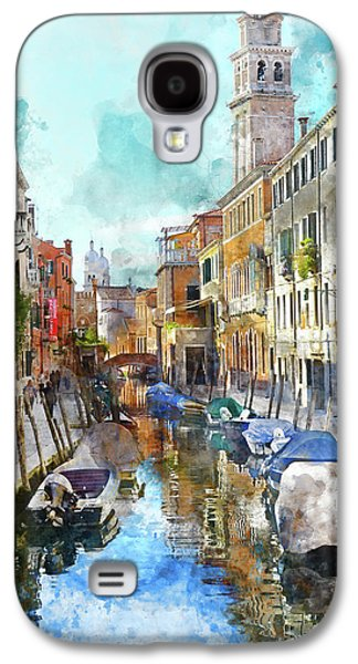 Beautiful Boats In Venice, Italy Galaxy S4 Case