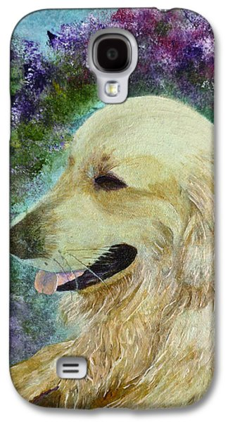 Galaxy S4 Case featuring the painting Beautiful Golden by Claire Bull