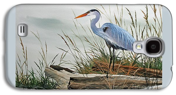 Heron Galaxy S4 Case - Beautiful Heron Shore by James Williamson