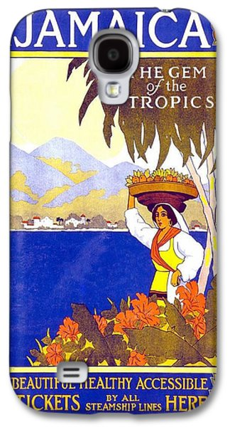 Beautiful Jamaican Landscape Illustration - Vintage Travel Poster - Gem Of The Tropics Galaxy S4 Case