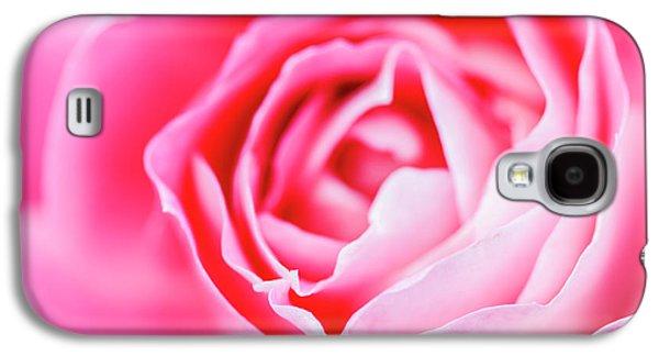 Beautiful Pink Rose Closeup Galaxy S4 Case by Vishwanath Bhat