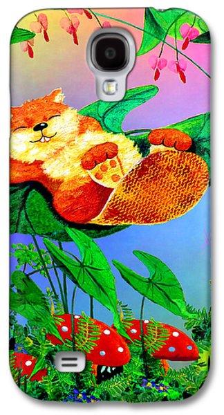 Beaver Bedtime Galaxy S4 Case by Hanne Lore Koehler