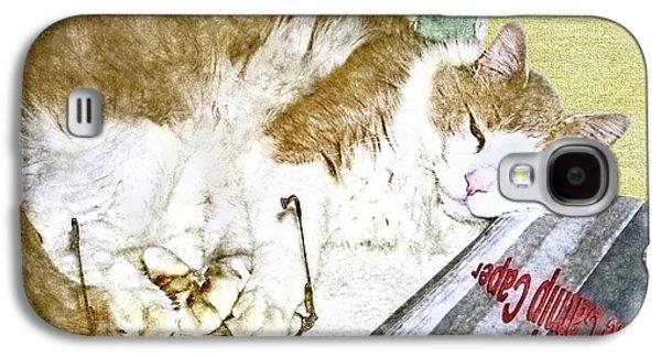 Bedtime Cat Galaxy S4 Case by Susan Leggett
