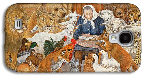 Bedtime Story On The Ark Galaxy S4 Case by Ditz