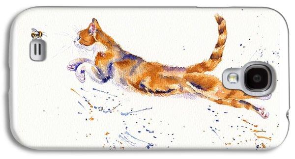 Cat Galaxy S4 Case - Bee Airborne by Debra Hall