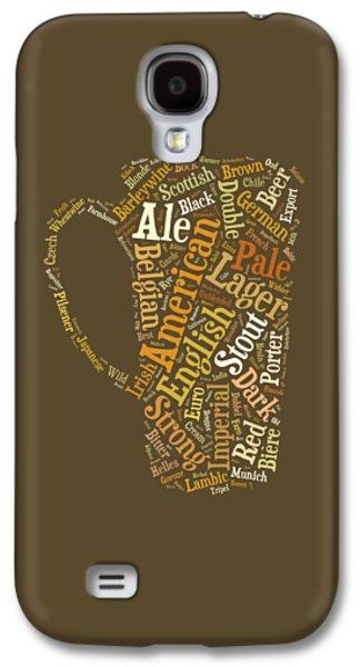 Beer Lovers Tee Galaxy S4 Case by Edward Fielding