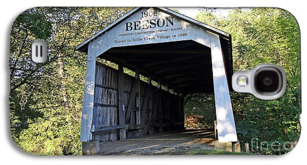 Beeson Covered Bridge Indiana Galaxy S4 Case