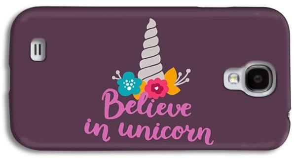 Unicorn Galaxy S4 Case - Believe In Unicorn by Edward Fielding