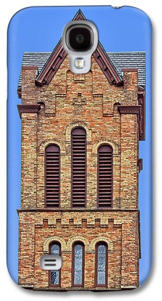 Bell Tower - First Congregational Church - Jackson - Michigan Galaxy S4 Case by Nikolyn McDonald