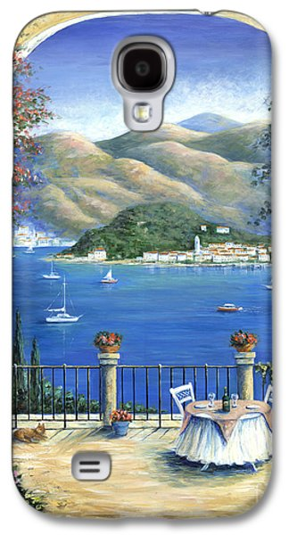 Italian Wine Paintings Galaxy S4 Cases - Bellagio Lake Como From the Terrace Galaxy S4 Case by Marilyn Dunlap