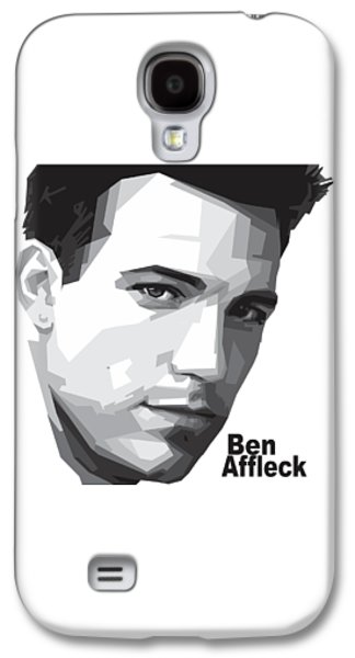 Ben Affleck Portrait Art Galaxy S4 Case by Madiaz Roby