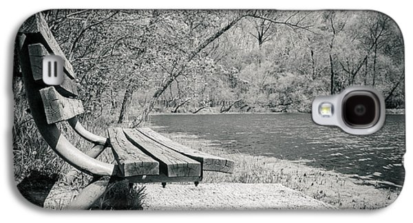 Bench By The Water Galaxy S4 Case by Amy Turner