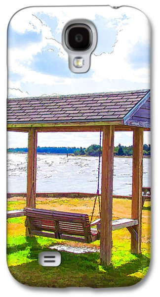 Bench In Nature By The Sea 1 Galaxy S4 Case by Lanjee Chee
