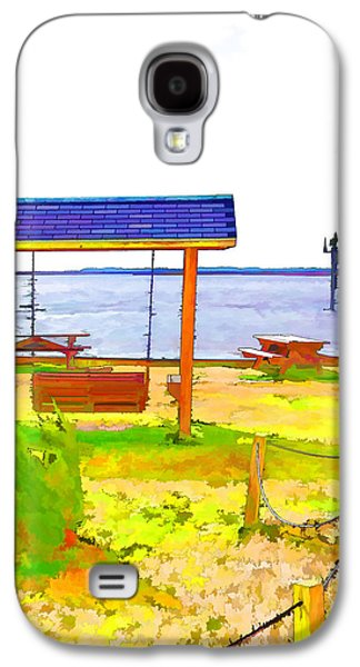Bench In Nature By The Sea 3 Galaxy S4 Case by Lanjee Chee