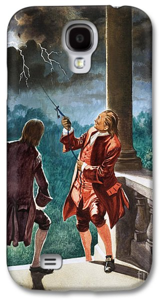 Benjamin Franklin Proves That Lightning Is Electricity Galaxy S4 Case by Peter Jackson