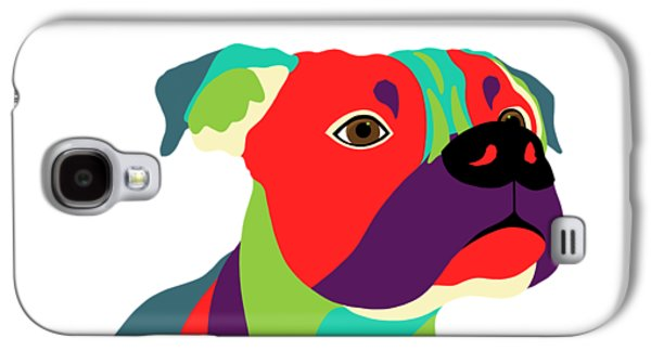 Bennie The Boxer Dog - Wpap Galaxy S4 Case by SharaLee Art