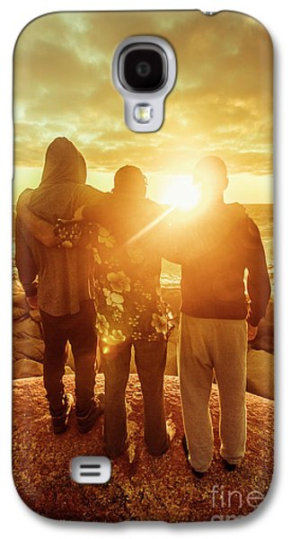 Galaxy S4 Case featuring the photograph Best Friends Greeting The Sun by Jorgo Photography - Wall Art Gallery