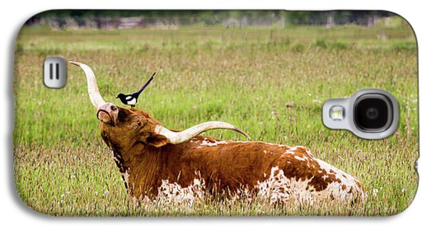 Best Friends - Texas Longhorn Magpie Galaxy S4 Case by TL Mair