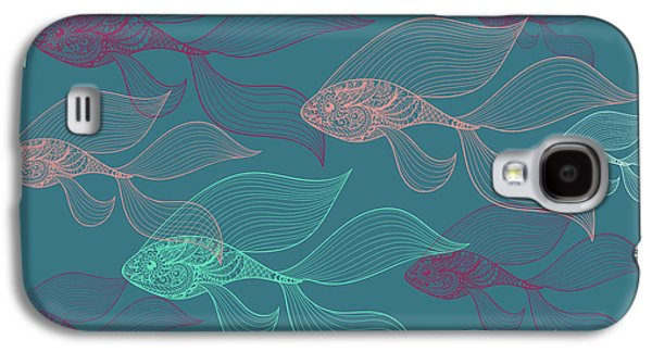Beta Fish  Galaxy S4 Case by Mark Ashkenazi