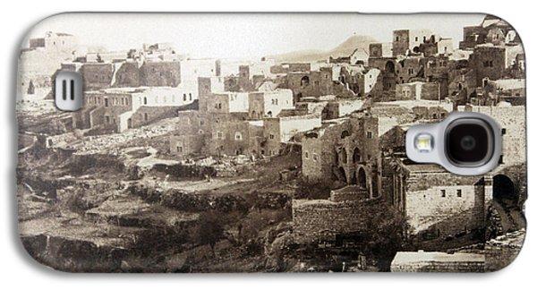 Bethlehem Galaxy S4 Cases - Bethlehem Old Main Street Galaxy S4 Case by Munir Alawi