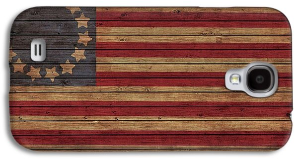 Betsy Ross American Flag Barn Galaxy S4 Case by Dan Sproul
