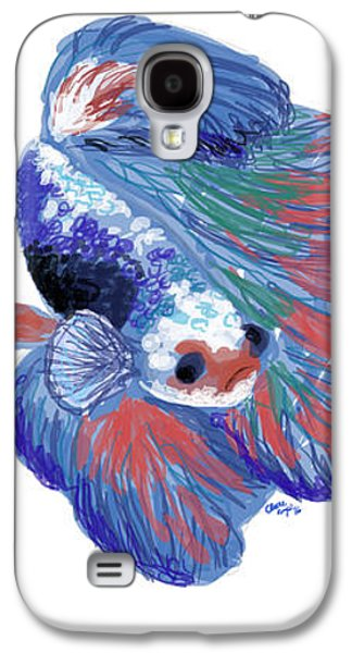Betta Fish Galaxy S4 Case by Claire Kemp