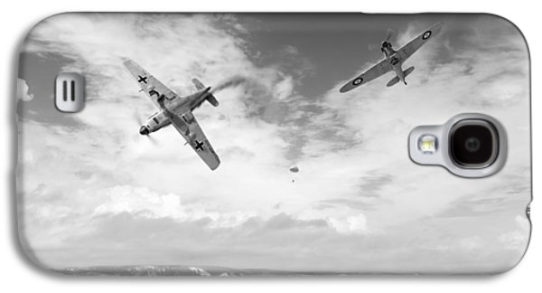 Galaxy S4 Case featuring the photograph Bf109 Down In The Channel Bw Version by Gary Eason