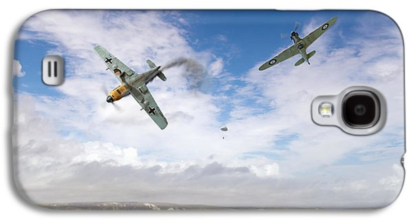 Galaxy S4 Case featuring the photograph Bf109 Down In The Channel by Gary Eason