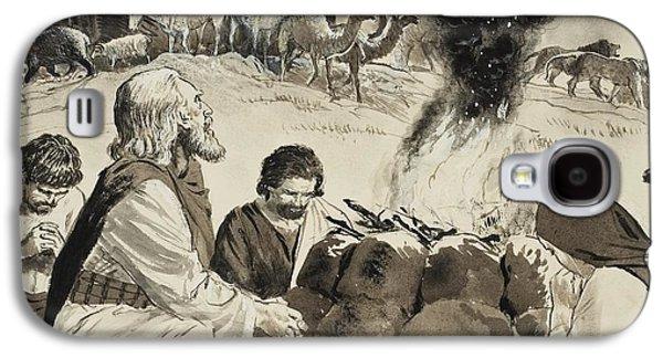 Biblical Scene Depicting Noah's Ark Galaxy S4 Case