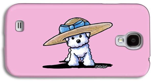 Bichon In Hat Galaxy S4 Case by Kim Niles